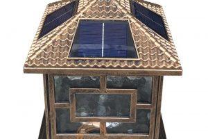 Đèn trụ cổng năng lượng mặt trời TQS-463-25cm