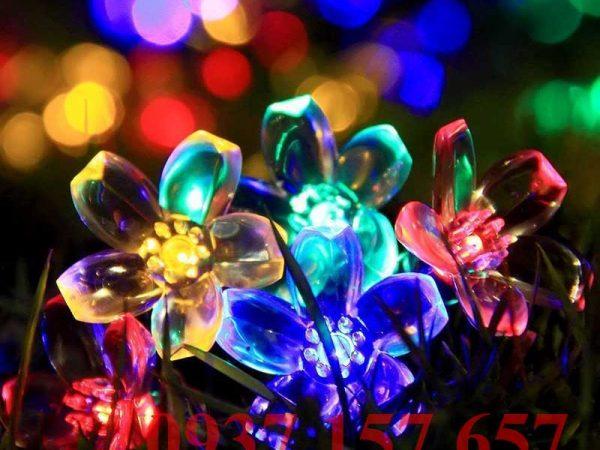 Đèn LED dây năng lượng mặt trời hình bông hoa