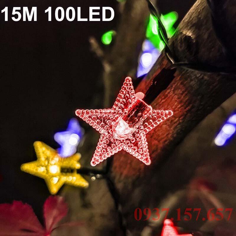Đèn LED dây năng lượng mặt trời hình ngôi sao